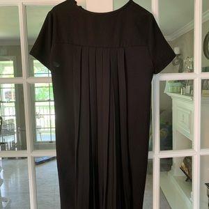 Zara Basic pleated black dress